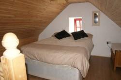 aran thatched cottage master bedroom