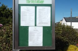 ivy cottage menu